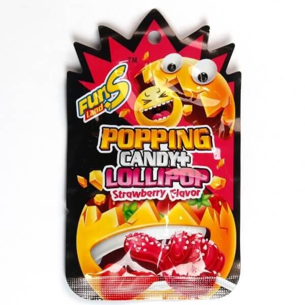 Kẹo Popping Candy with Lollipop Strawberry Flavor 13g