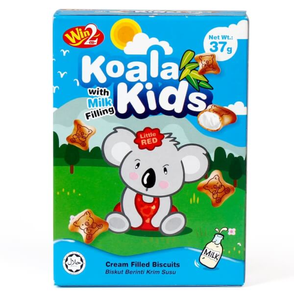 Bánh Koala Kids With Milk Filling Cream Filled Biscuits 37g