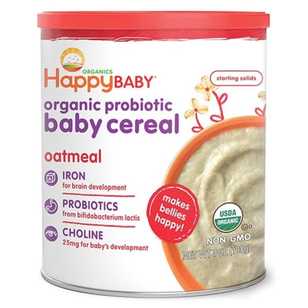Combo 2 Thực phẩm bổ sung HAPPYBABY ORGANIC BABY CEREAL OATMEAL