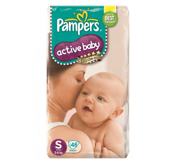 Tã dán Pampers cao cấp size S, 3-8 kg, 46 miếng